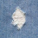 Dril de algodón rasgado Imagenes de archivo