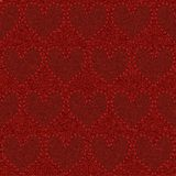 Dril de algodón rojo inconsútil Imagenes de archivo