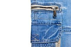 Dril de algodón y bolsillos Foto de archivo libre de regalías
