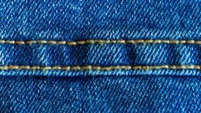 Dril de algod?n o tela de algod?n o material ?spera de los vaqueros con la costura cosida metrajes