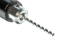 Drill bit in chuck Royalty Free Stock Photos