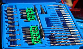 Drill bit and driver set Stock Image
