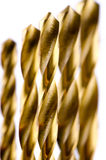 Drill bit metal bronze color Royalty Free Stock Photos