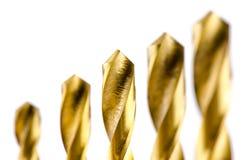 Drill bit metal bronze color Stock Photo