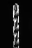 Drill Bit metal set isolated on black background Royalty Free Stock Images
