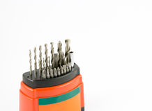 Drill bit and screw driver Stock Photography