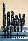 Drill bit set Royalty Free Stock Photos