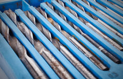 Drill bit set in box Stock Photography