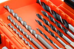 Drill bit set in box  Royalty Free Stock Photo