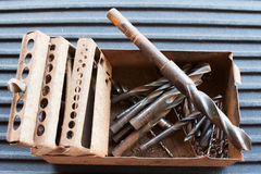 Drill bit set Stock Images