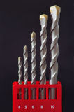 Drill Bit Set Stock Photos