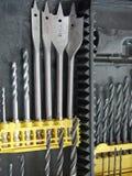 Drill bits stock photos