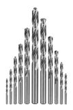 Drill bits of different sizes Stock Photography