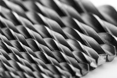 Drill bits isolated on white Stock Images