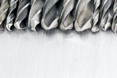 Drill bits in a row Stock Photos