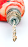 Drill and bits used Royalty Free Stock Photo