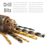 Drill Bits  on White Stock Photo