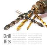 Drill Bits  on White Royalty Free Stock Image
