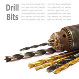 Drill Bits  on White Royalty Free Stock Photography