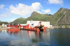 Drill boat of Svolvaer in Lofoten Stock Images