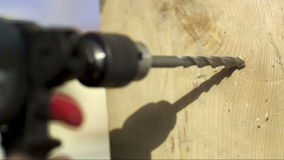 Drill in Concrete Board stock video
