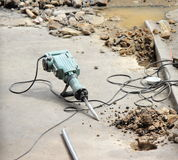 Drill and core concrete floor Royalty Free Stock Photo