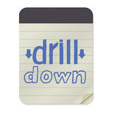 Drill Down Notebook Template Royalty Free Stock Image