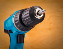 Drill with drill bit Stock Image