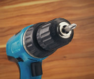 Drill with drill bit Stock Photos
