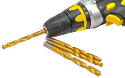 Drill and drill bits Stock Photos