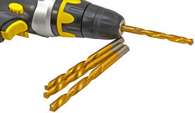 Drill and drill bits Royalty Free Stock Image