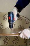 Drill Electric screw tool Stock Photo
