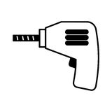 Drill electric tool icon Royalty Free Stock Image