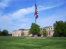 Drill Field at Mississippi State University stock images
