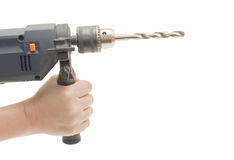 Drill in the hands Stock Photography