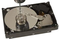 Drill hard disk platter Stock Photos