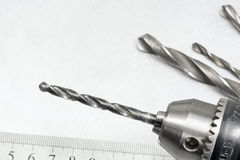 Drill head with bits Stock Image