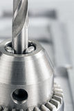 Drill head with drill bit closeup Stock Photography