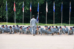 Drill Instructor Orders Push-ups Stock Photos