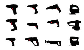Drill, Jig Saw and other Power Tools. Vector Royalty Free Stock Images