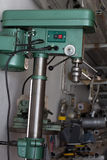 Drill machine. In workshop; nobody royalty free stock photo
