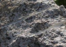 Drill marks in Granite Rock Royalty Free Stock Image