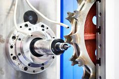 Drill Milling Machine. On plant royalty free stock photos