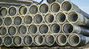 Drill pipes. Stock Photos