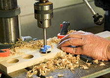 Drill press Stock Image
