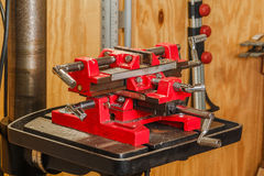 Drill Press Vise Royalty Free Stock Photos