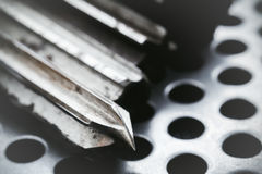 Drill-reamer at factory workshop Royalty Free Stock Photography