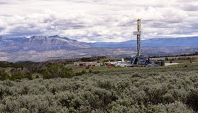 Drill Rig on Colorado's Western Slope. A drill platform near Grand Junction Colorado Stock Photo