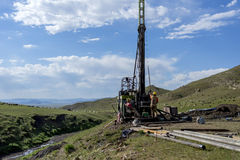 Drill rig 06 Royalty Free Stock Images