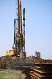 Drill rig in site Royalty Free Stock Image
